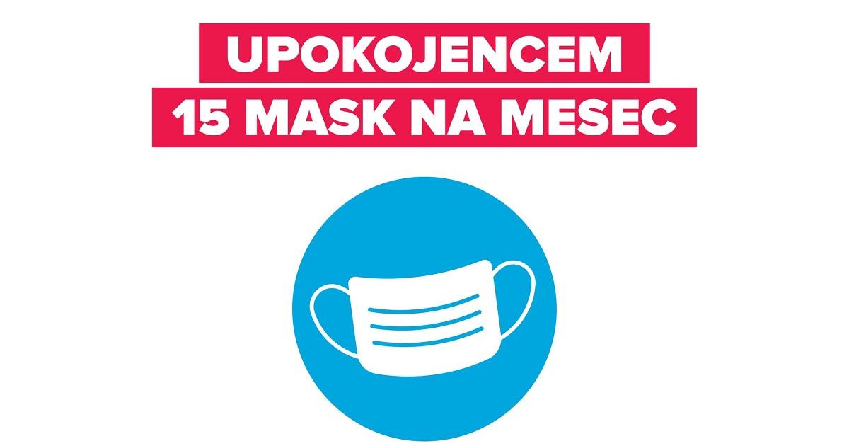 Brezplačne maske za upokojence