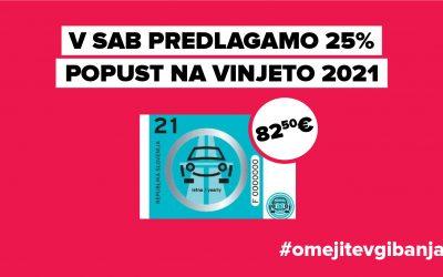 V SAB predlagamo 25 % popust na vinjete za leto 2021